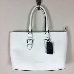White Armani Jeans Bag NWT With Dust Bag